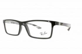 Ray-Ban Kunststoff Brille RX 5279 2000 Größe 53/18 in der Farbe shiny black / schwarz glänzend 43iJF6Fc
