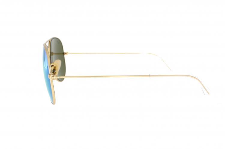 Ray-Ban Sonnenbrille Aviator RB 3025 112/19 Gr.55 in der Farbe matte gold special /grün verspiegelt Y18gW5HO3Q