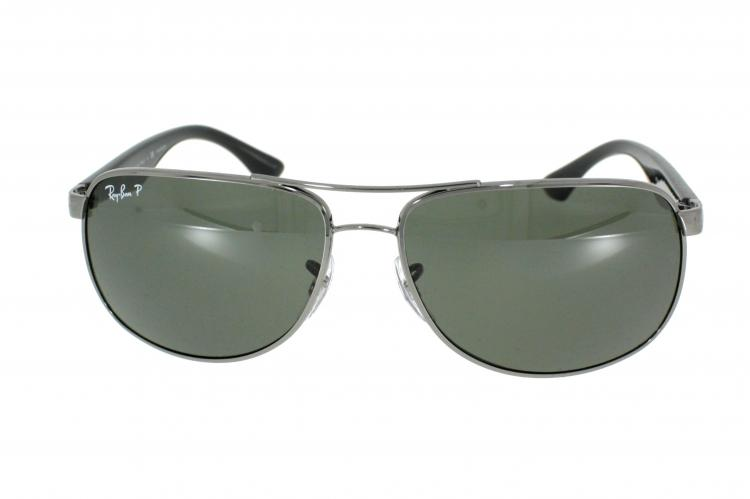 Ray-Ban Sonnenbrille RB 3502 004/58 Gr.61 in der Farbe gunmetal / dunkelsilber Pol. VRCChM